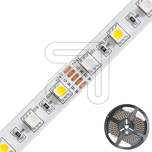 EVNRGB+WW-LED-Strips-Rolle 5m IP54/IP20 - 24V-DC 60W max. 592lm/m RGB+3000K B12mm H3mm STR542460509902