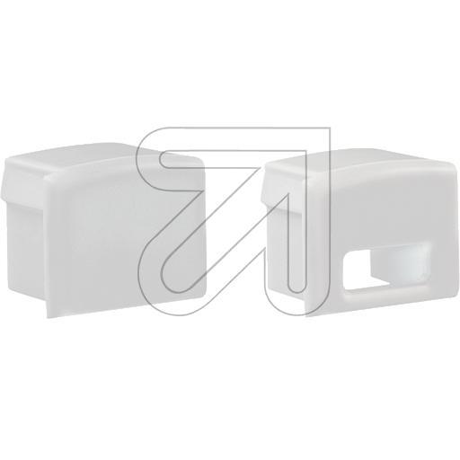 EVNEnd-Abschlusskappen-Set mit 2 Abschlusskappen 1x geschlossen und 1x mit Leitungsöffnung weiß FLAT7PAK-SETW