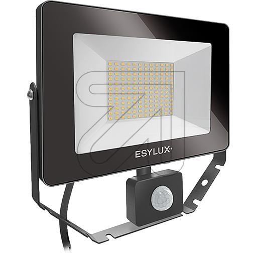 ESYLUXLED-Strahler IP65 50W 5000lm 3000K schwarz EL10810893