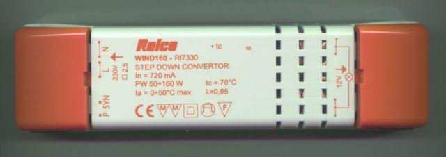 RelcoWIND 160 Elektronischer Trafo 75-160VA 185x46x38mm RL7330