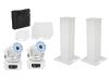 EUROLITESet 2x Stage Stand 100cm + 2x LED TMH-75 COB white