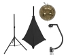 EUROLITESet Mirror ball 30cm gold with stand and tripod cover black