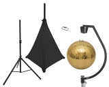 EUROLITESet Mirror ball 50cm gold with stand and tripod cover black