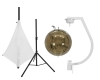 EUROLITESet Mirror ball 30cm gold with stand and tripod cover white