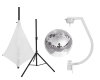 EUROLITESet Mirror ball 30cm with stand and tripod cover white
