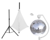 EUROLITESet Mirror ball 50cm with stand and tripod cover white