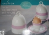CROFTONEgg cup with hood, set of 2 made of porcelain