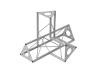 DECOTRUSSSAC-45 corner 4-way l+h silver