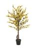 EUROPALMSForsythia tree with 3 trunks, artificial plant, yellow, 120cm