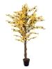 EUROPALMSForsythia tree with 3 trunks, artificial plant, yellow, 150cm