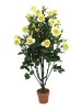 EUROPALMSRose shrub, artificial, light-yellow, 140cm