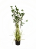 EUROPALMSEvergreen shrub with grass, artificial plant, 120cm