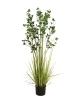 EUROPALMSEvergreen shrub with grass, artificial plant, 152cm