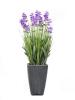 EUROPALMSLavendel, Kunstpflanze, lila, im Dekotopf, 45cm
