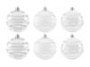 EUROPALMSDeco Ball 7cm, clear, diverse designs 6x