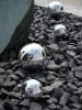 EUROPALMSDeco Ball 10cm, silver 4x