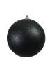 EUROPALMSDeco Ball 20cm, black, glitter