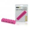 basicXL4 Port USB 2.0 Block Hub Pink