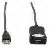 KönigUSB A Male auf A Female Kabel USB A-Stecker > A-Kupplung 5,0 Meter grau Aktives Verlängerungskabel High Speed USB2.0