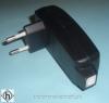 RelcoSteckertrafo 550 K/ST60/250/N 20-60VA schwarz für 12V Halogenlampen.