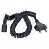 EGBRasierer-Zuleitung hochflexibel 1,4m schwarz H03VH2-Y 2x1,0m