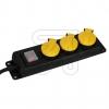 EGB3-fach Tischdose m.Klappdeckeln IP44 GNPBK03 schwarz/gelb, m