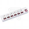 EGB6-fach Steckdosenleiste m.Haupt-u.6 Einzelschalter weiß 1,5m Überspannungsschutz