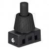 NeumannDruck Einbau-Schalter 468/8 schwarz Druck-Einbau-Schalter 10mm Hals 8mm