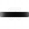 EGBBlindplatte 19 2 HE schwarz 691266TS