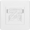 EGBAnschlussdose für Keystone mit Blende weiß