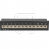 EGBPatchpanel CAT.6A 12 Ports 75076 schwarz