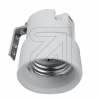 ElectroplastPorzellan-Fassung E27 mit Metallwinkel