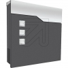 LCD GmbHBriefkasten mit Zeitungsfach graphit/Edelstahl H375 B370 A105mm 3037
