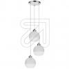 SPOT-LIGHTPendelleuchte Fresh weiß/transparent 3flg 1860328REEK: E-A++