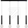 SPOT-LIGHTPendelleuchte Metall schwarz 4xE27/60W 16709404
