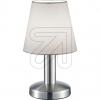 TRIO Stoff-Tischleuchte E14 nickel/weiß 599600101 666300