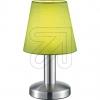 TRIO Stoff-Tischleuchte E14 nickel/grün 599600115 666305