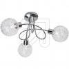 Nino LED-Deckenleuchte chrom 3flg 3000K 64460306 644603 672650
