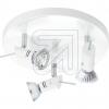 KPMHV-Metall-Deckenteller 3flg weiß 15296-10EEK: E-A++