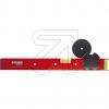 DOSENFIXBohrvorrichtung rot mit Zentrierscheibe 68mm und Zentrierste