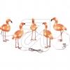 KonstsmideLED Acryl Flamingos 5er-Set 40 bernsteinf. LED außen 6267-80
