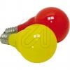 Konstsmide5685-520 System-Außenketten LED-Kugellampen E14 rot/gelb-Preis für 2 St.