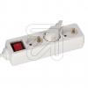 EGB3 fach mit Schalter weiss 1,5m Anschlusskabel