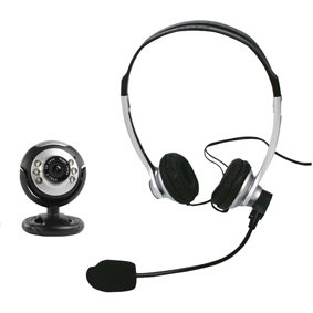 König Webcam & Headset CMP-CHATPACK11L
