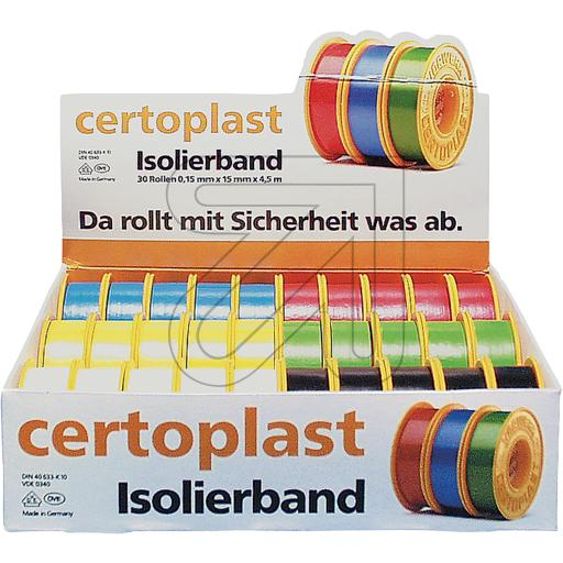 Certoplast Isolierbandsortiment 30tlg, farbig sort. 721035