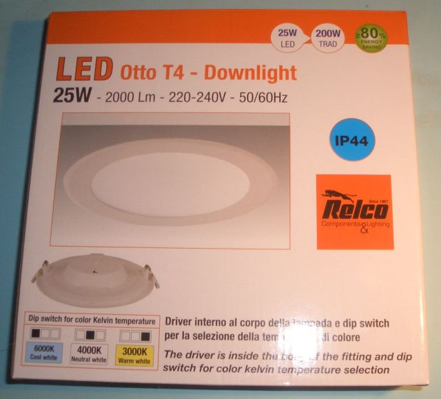 Relco LED Otto T4 CELL 25W 3K, 4K, 6K, WH 25924/3-4-6K 25924/3-4-6KL