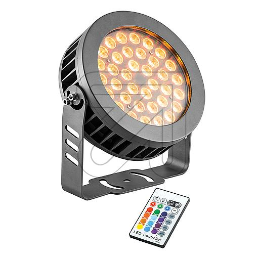 EVN RGB-LED-Fluter anthrazit IP65 36W LF65361599 628940