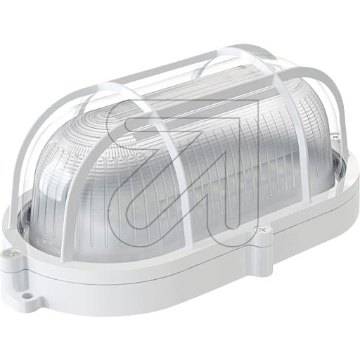 DIEFRA-LIGHT LED-Oval-Armatur IP44 weiß 4000K 9W 81-3 635870
